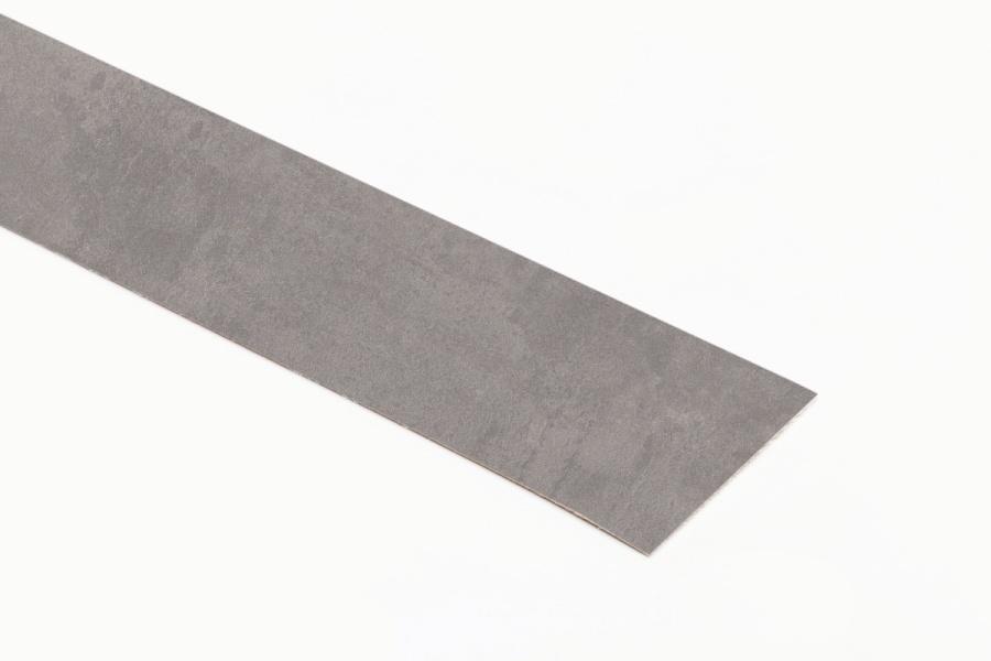 Kante mit Schmelzkleber Beton Art Perlgrau